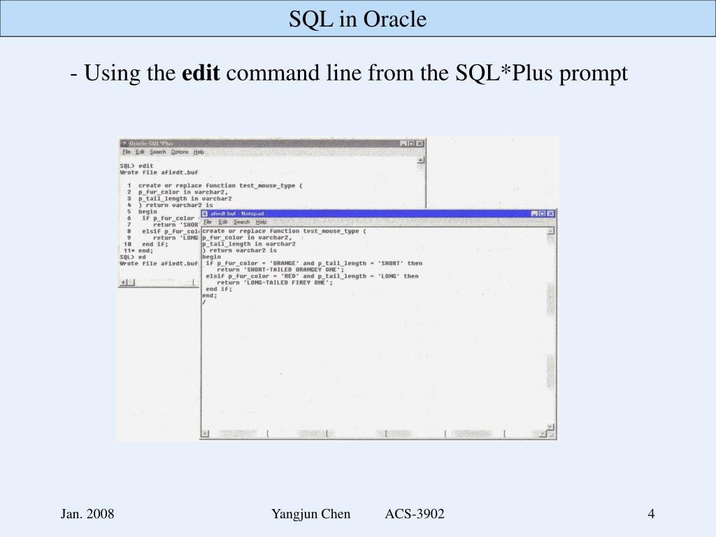 PPT - - Developing stored procedures and functions Using SQL