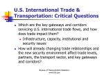 u s international trade transportation critical questions1
