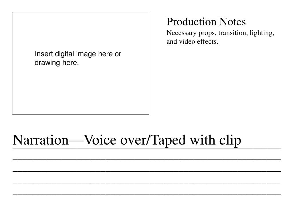 Production Notes