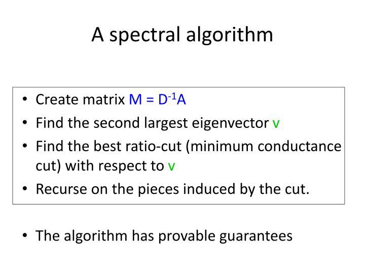 A spectral algorithm