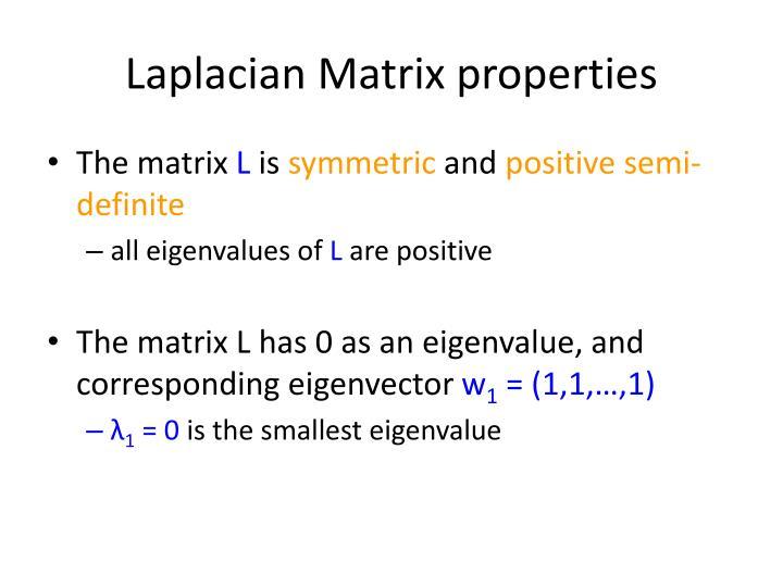 Laplacian Matrix properties