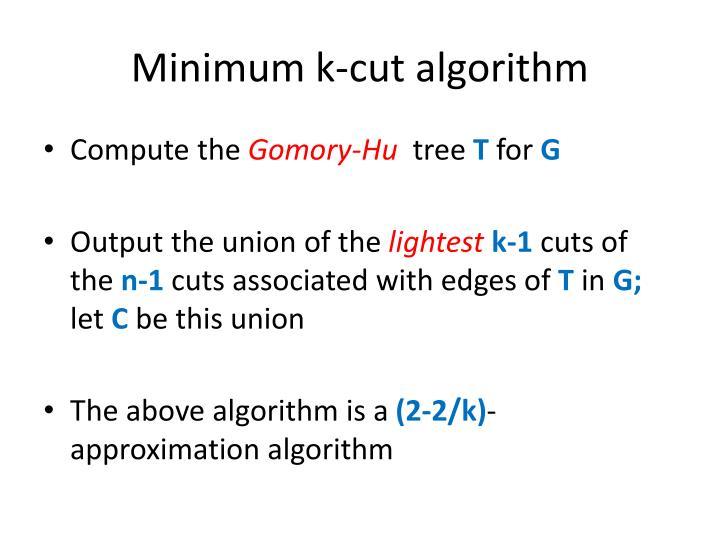 Minimum k-cut algorithm