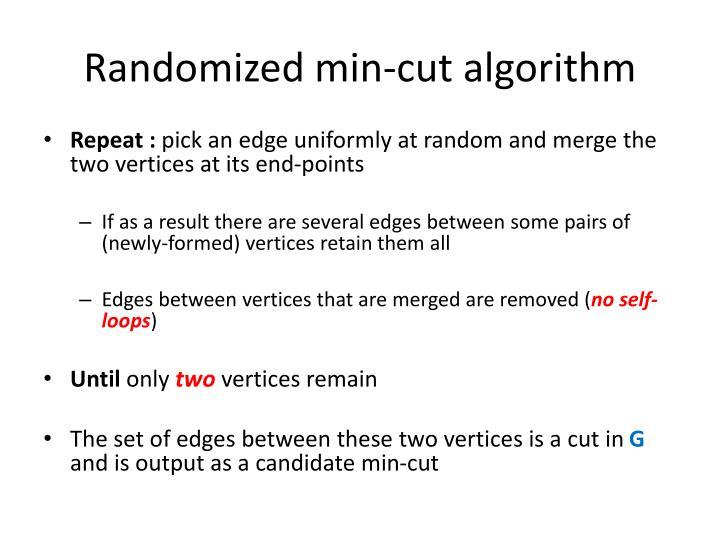 Randomized min-cut algorithm