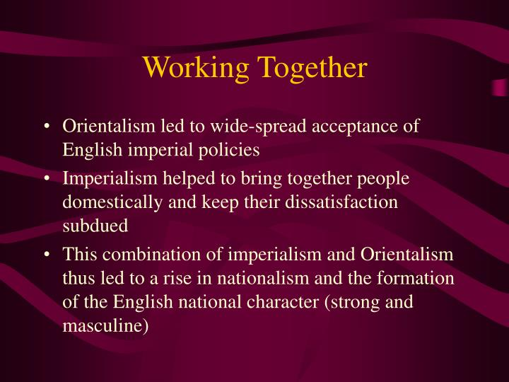orientalism thesis Neo-orientalism is monolithic, totalizing, reliant on a binary logic, and based on an assumption of moral and cultural superiority over the oriental other neo-orientalism should be understood as a supplement to enduring modes of orientalist representation.