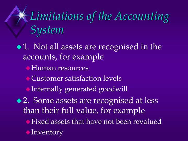 Limitations of the Accounting System