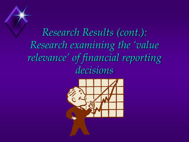 Research Results (cont.):