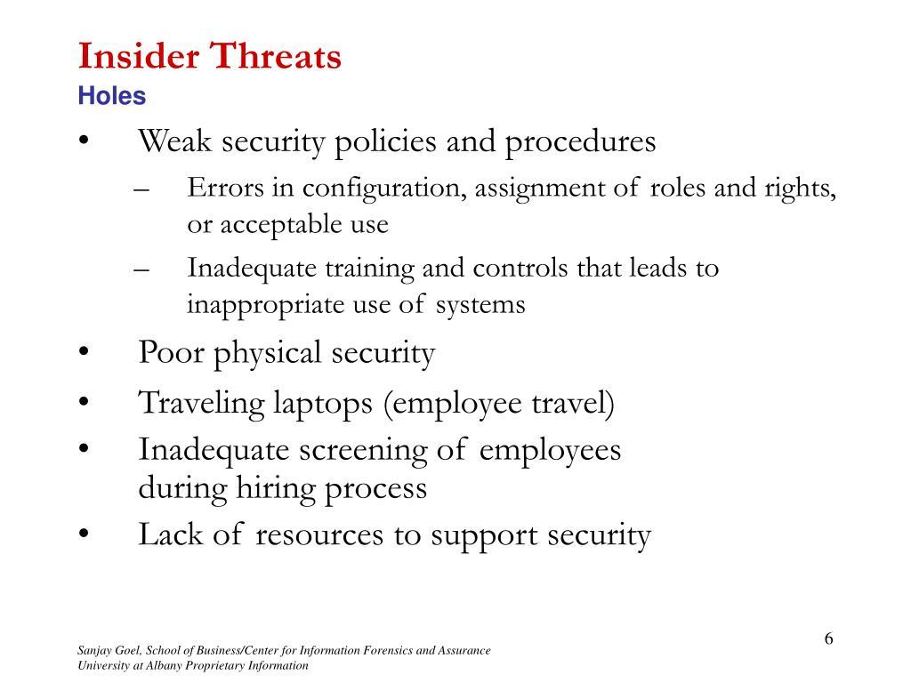 PPT - Unit Outline Information Security Risks, Part II