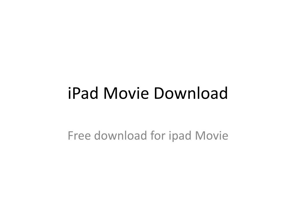 ipad movie download l.