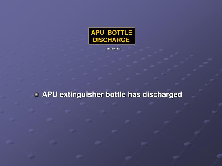 APU  BOTTLE