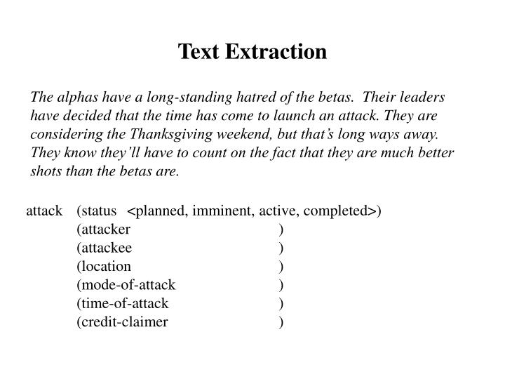 Text Extraction