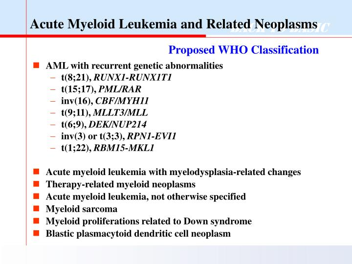 Acute Myeloid Leukemia and Related Neoplasms