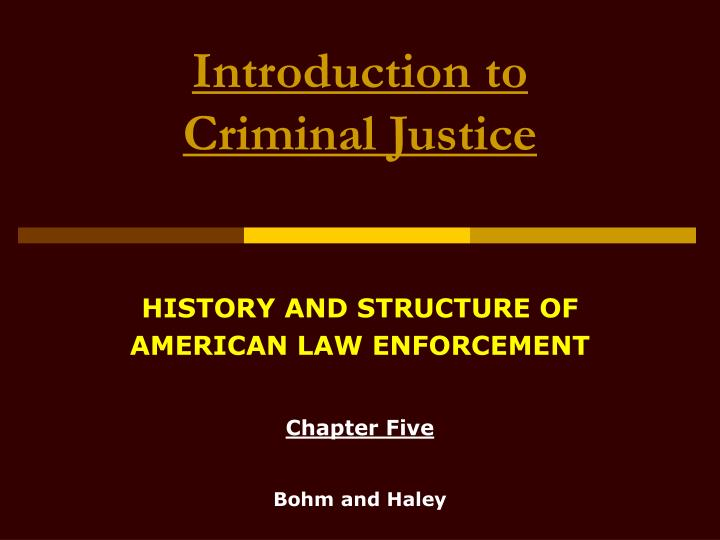 introduction of criminal justice Bvsd curriculum essentials 2 introduction the overarching objective for this introductory course in criminal justice is to give students an overview of the criminal justice field in terms of what is involved in choosing.