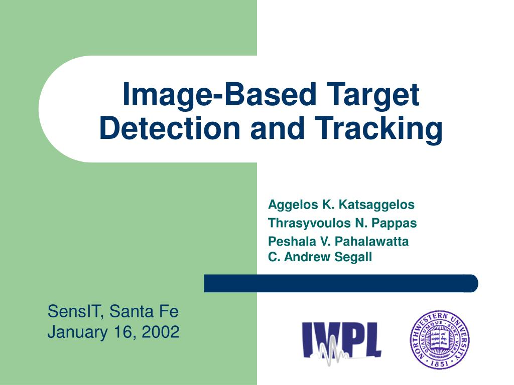 Image-Based Target Detection and Tracking