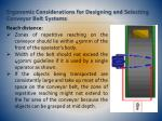 ergonomic considerations for designing and selecting conveyor belt systems11
