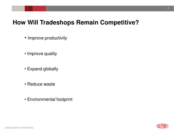 How Will Tradeshops Remain Competitive?