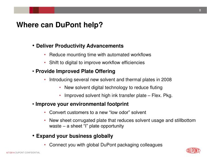 Where can DuPont help?