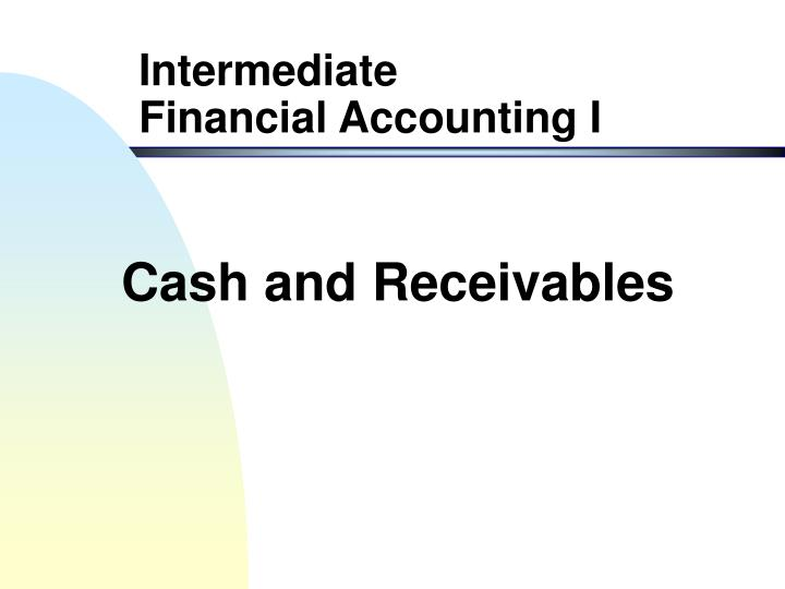 cash and receivables n.