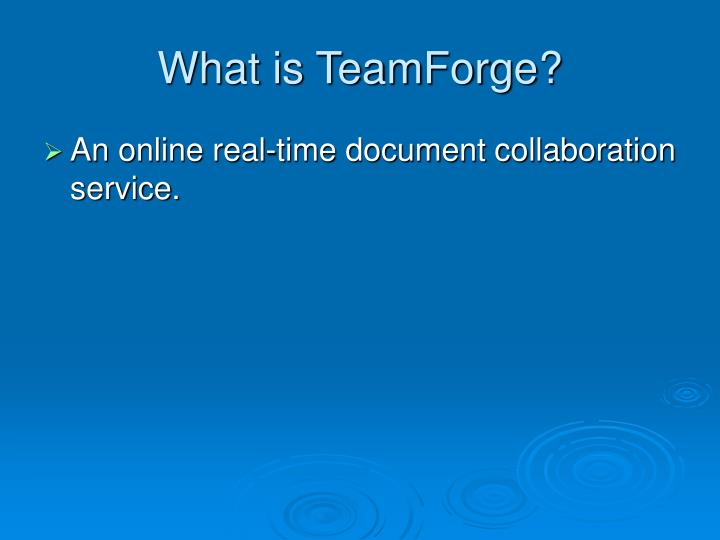 What is teamforge