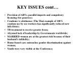 key issues cont
