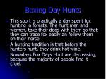 boxing day hunts