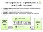 the blueprint for e freight solutions is the e freight framework
