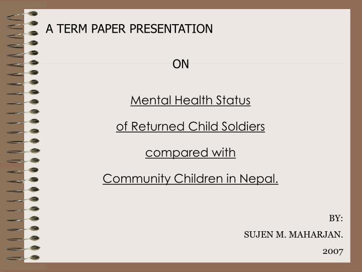 term paper presentation Student paper create a great looking report with cover sheet using this term paper template this is an accessible template.