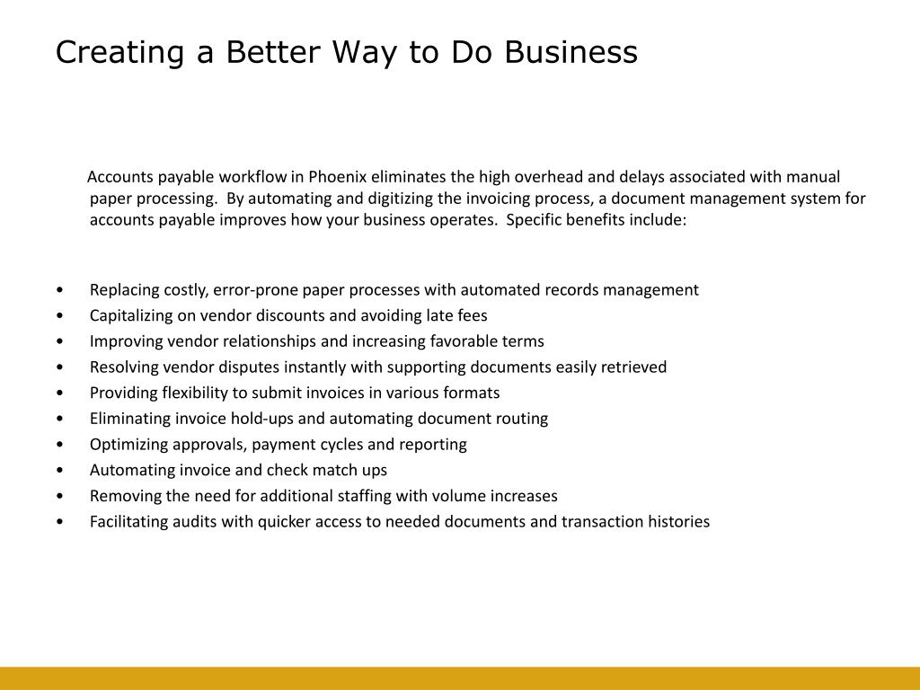 Creating a Better Way to Do Business