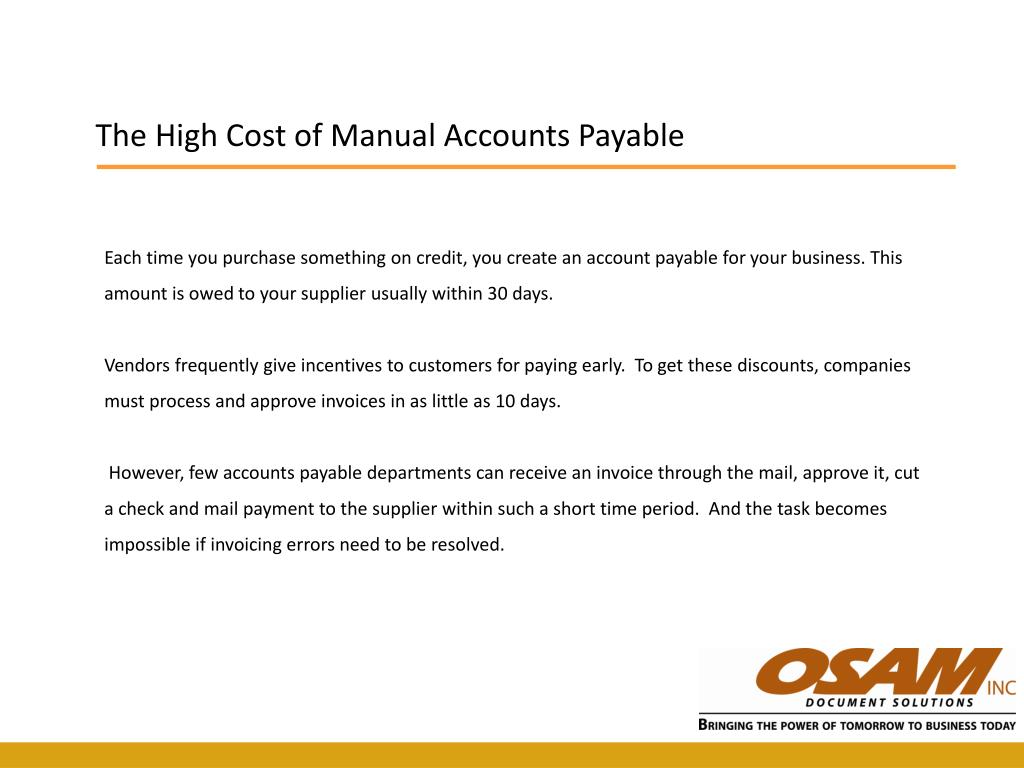 The High Cost of Manual Accounts Payable