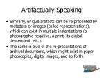 artifactually speaking