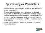 epistemological parameters