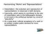 harmonizing works and representations