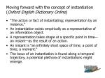 moving forward with the concept of instantiation oxford english dictionary online