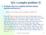 qa a complex problem 3