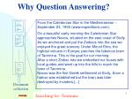 why question answering