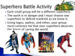 superhero battle activity