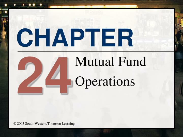 mutual fund operations n.