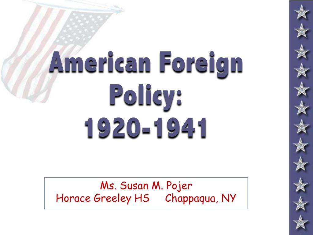 american foreign policy 1920 1941 l.