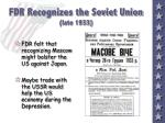 fdr recognizes the soviet union late 1933