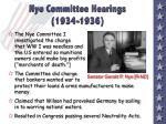 nye committee hearings 1934 1936