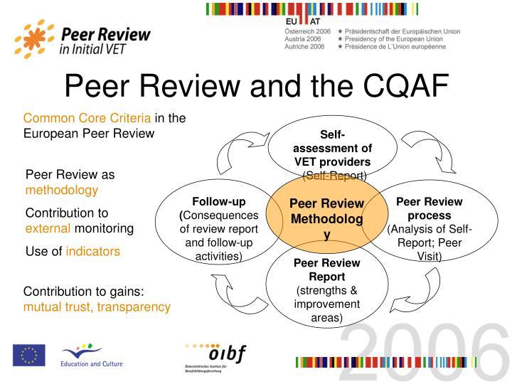 Self-assessment of VET providers
