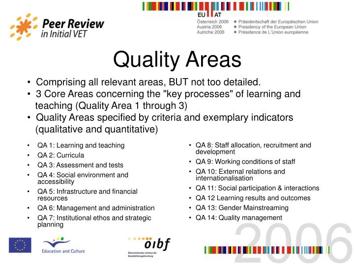 Quality Areas