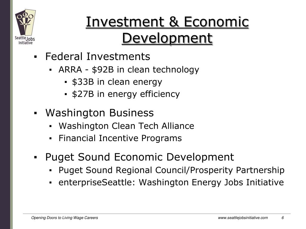 Investment & Economic Development