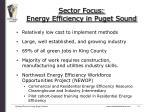 sector focus energy efficiency in puget sound