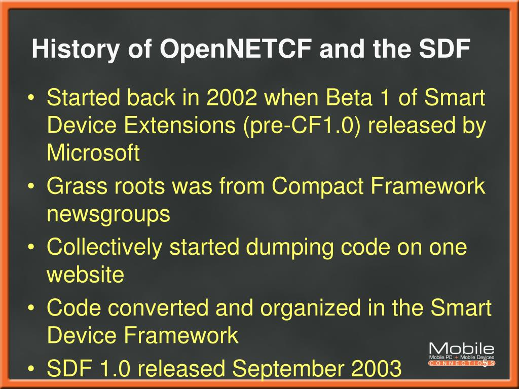 PPT -  NET Compact Framework 2 0 and OpenNETCF Smart Device