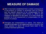 measure of damage