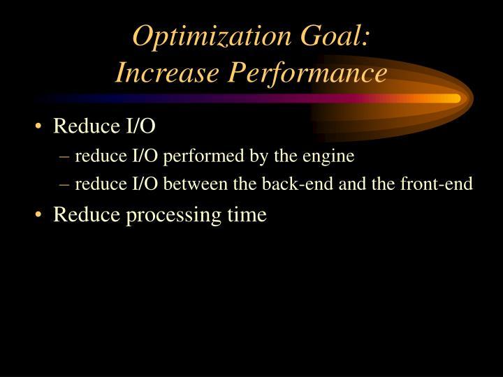 Optimization Goal: