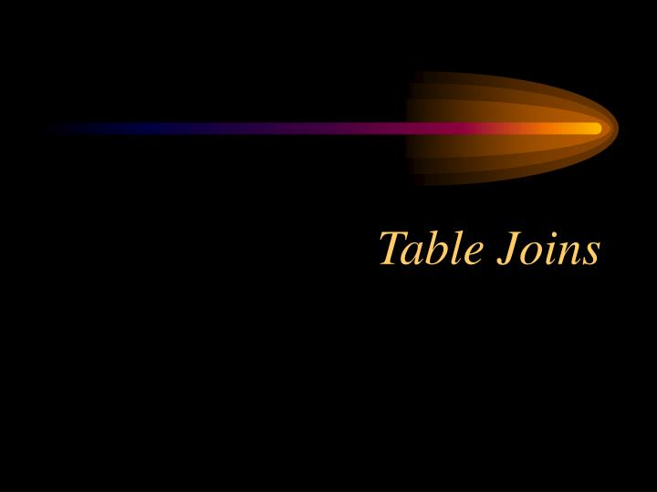 Table Joins