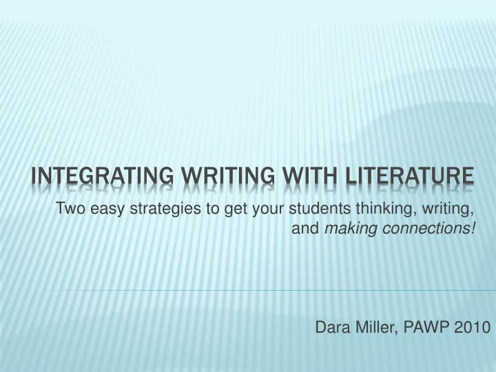two easy s trategies to get your students thinking writing and making connections n.