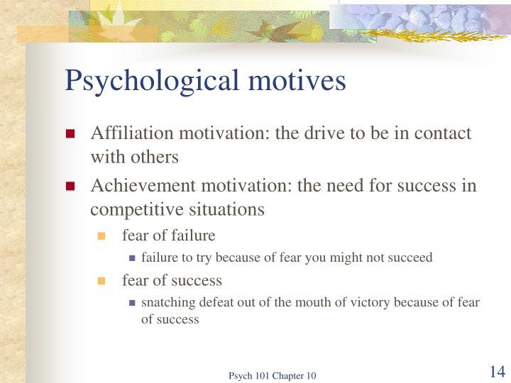 Psychological motives