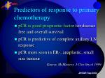 predictors of response to primary chemotherapy